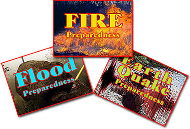 fire, flood & earthquake preparedness pic